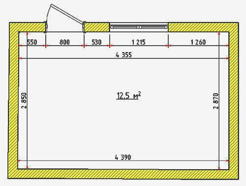 Дизайн комнаты с размерами 2.5 5